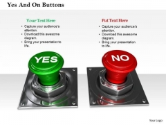 Stock Photo Green Yes And Red No Buttons PowerPoint Slide