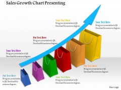 Stock Photo Growth Arrow On Shopping Bag PowerPoint Slide