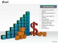 Stock Photo Growth Graph With Dollar Symbol PowerPoint Slide
