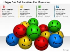 Stock Photo Happy And Sad Emotions For Decoration Image Graphics For PowerPoint Slide
