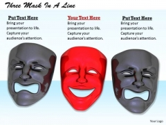 Stock Photo Happy Red Mask In Sad Masks Pwerpoint Slide