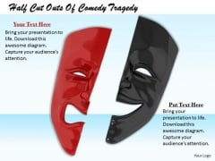 Stock Photo Happy Sad Mask PowerPoint Slide