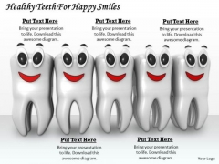 Stock Photo Healthy Teeth For Happy Smiles PowerPoint Template