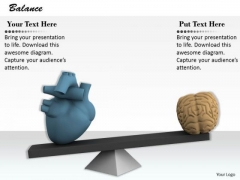 Stock Photo Heart And Brain Balance Concept PowerPoint Slide