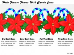 Stock Photo Holy Flower Frame With Candy Cane PowerPoint Slide