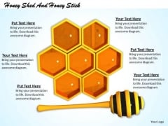 Stock Photo Honey Shed And Honey Stick PowerPoint Slide