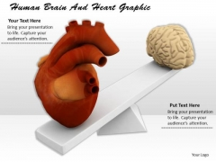 Stock Photo Human Brain And Heart Graphic PowerPoint Template