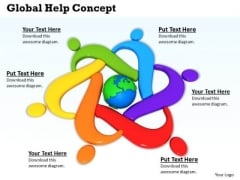 Stock Photo Icon Of Global Help Concept PowerPoint Slide