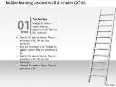 Stock Photo Illustration Of A Ladder With Wall PowerPoint Slide