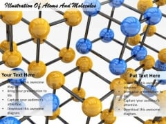 Stock Photo Illustration Of Atoms And Molecules Ppt Template