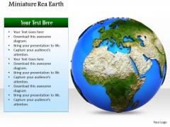 Stock Photo Illustration Of Blue Green Earth Globe PowerPoint Slide