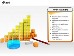 Stock Photo Illustration Of Business Reports And Diagrams PowerPoint Slide