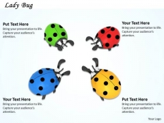 Stock Photo Illustration Of Colorful Lady Birds PowerPoint Slide