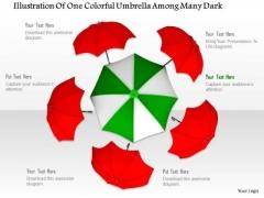 Stock Photo Illustration Of Colorful Umbrellas PowerPoint Slide