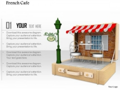 Stock Photo Illustration Of French Cafe On White Background PowerPoint Slide