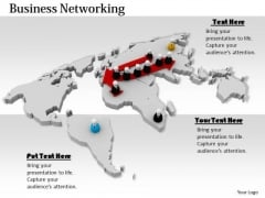 Stock Photo Illustration Of Global Business Network PowerPoint Slide