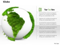 Stock Photo Illustration Of Green And White Globe PowerPoint Slide