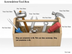 Stock Photo Illustration Of Mechanic Tools Box PowerPoint Slide