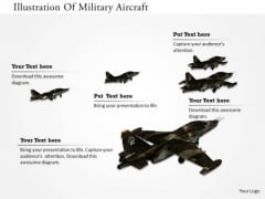 Stock Photo Illustration Of Military Aircraft PowerPoint Slide