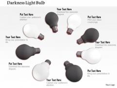Stock Photo Illustration Of On Off Light Bulbs PowerPoint Slide