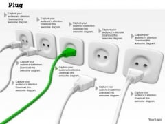 Stock Photo Illustration Of Plug And Sockets PowerPoint Slide