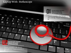 Stock Photo Illustration Of Stethoscope With Laptop PowerPoint Slide