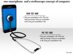 Stock Photo Illustration Of Stethoscope With Smartphone PowerPoint Slide