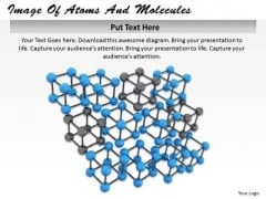 Stock Photo Image Of Atoms And Molecules Ppt Template