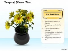 Stock Photo Image Of Flower Vase PowerPoint Template