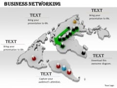 Stock Photo Image Of Global Business Network PowerPoint Slide