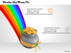 Stock Photo Image Of Rainbow With Money Pot PowerPoint Slide