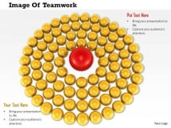 Stock Photo Image Of Teamwork And Leadership PowerPoint Slide