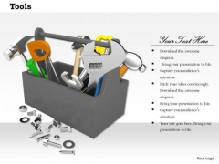 Stock Photo Image Of Tool Box With Nuts And Bolts PowerPoint Slide