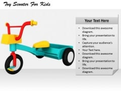 Stock Photo Innovative Marketing Concepts Toy Scooter For Kids Business Success Images