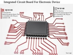 Stock Photo Integrated Circuit Board For Electronic Device PowerPoint Slide