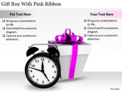 Stock Photo International Marketing Concepts Gift Box With Pink Ribbon Stock Photo Business Photos