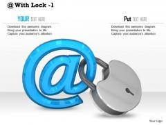 Stock Photo Internet Symbol With Lock PowerPoint Slide
