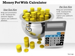 Stock Photo It Business Strategy Money Pot With Calculator Icons Images