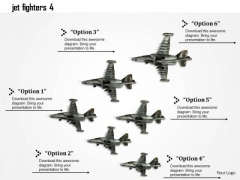 Stock Photo Jet Fighters Fly High On Speed PowerPoint Slide