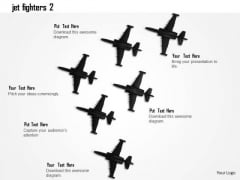 Stock Photo Jet Fighters For Defence Services PowerPoint Slide