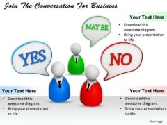 Stock Photo Join The Conversation For Business PowerPoint Template