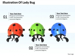 Stock Photo Lady Bug In Red Green Blue Colors PowerPoint Slide