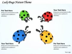 Stock Photo Lady Bugs Nature Theme PowerPoint Template