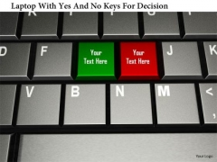 Stock Photo Laptop With Yes And No Keys For Decision PowerPoint Slide