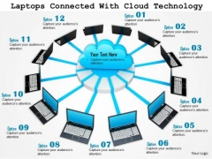 Stock Photo Laptops Connected With Cloud Technology PowerPoint Slide