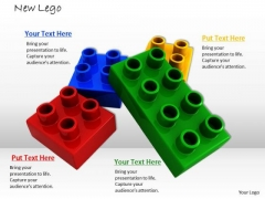 Stock Photo Legos Separated PowerPoint Slide