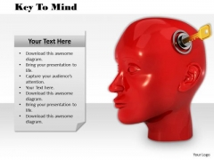 Stock Photo Lock And Key Of Human Mind PowerPoint Slide