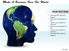 Stock Photo Make A Business Face For World PowerPoint Template