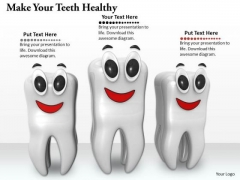 Stock Photo Make Your Teeth Healthy PowerPoint Template