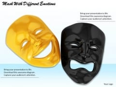 Stock Photo Mask With Different Emotions PowerPoint Template